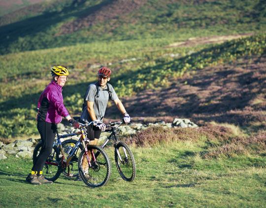 Mountain bikers in Denbighshire