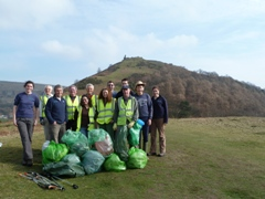 Volunteers after the tidy up